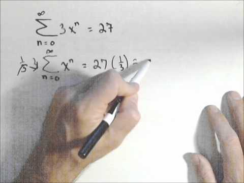 Finding the Common Ratio of an Infinite Geometric Series