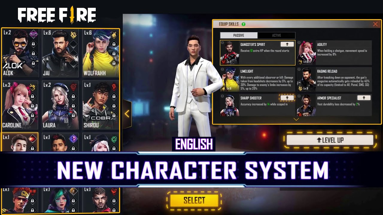 Character System Modification OB27 | Garena Free Fire