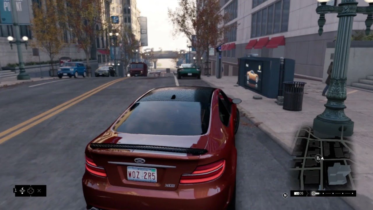Watch Dogs Car Driving Gameplay