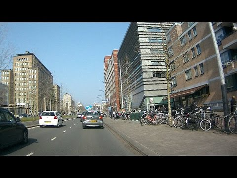 City route S112 in Amsterdam