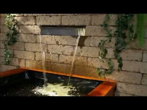 aquafall - hochwertiger wasserfall aus edelstahl mit led, Best garten ideen