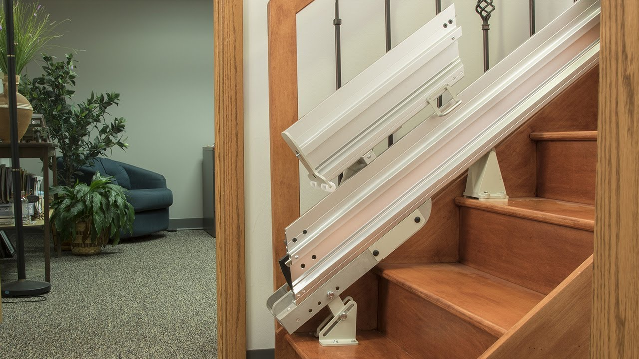 Bruno Power & Manual Folding Stair Lift Rails