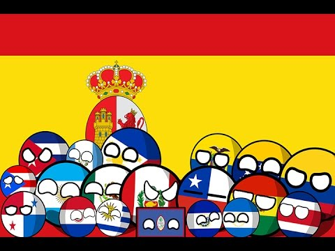 Countryball Artwork Timelapse #1 - Spanish Colonies