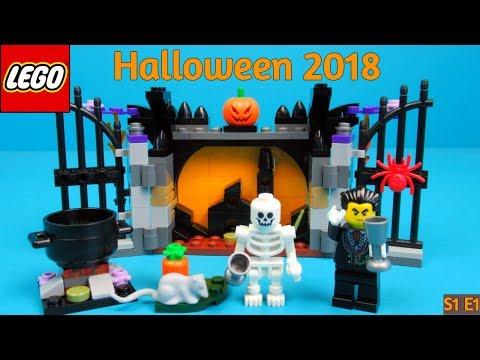 lego halloween seasonal 40260 haunt toy unboxing and playing