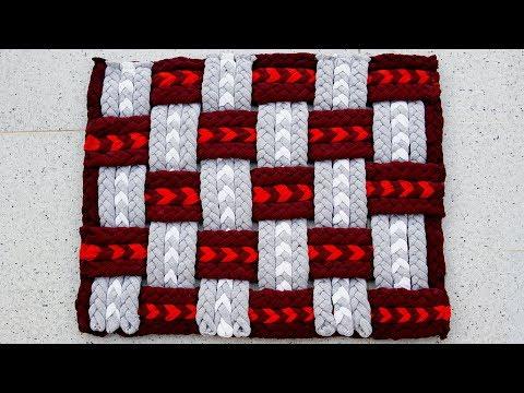 DIY; How to make Doormat, Area rug, Floor mat | کاردستی، ساخت پای پاک از لباس های کهنه
