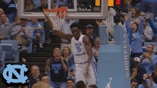 North Carolina's Nassir Little Takes Flight And Dunks Home The Alley-oop