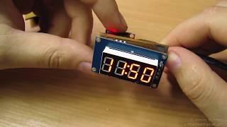 Часы на Digispark и 7 сегментном индикаторе TM1637