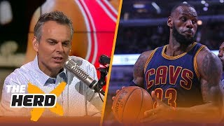 Colin Cowherd reacts to Wade joining LeBron while supporting older people for 5 minutes | THE HERD