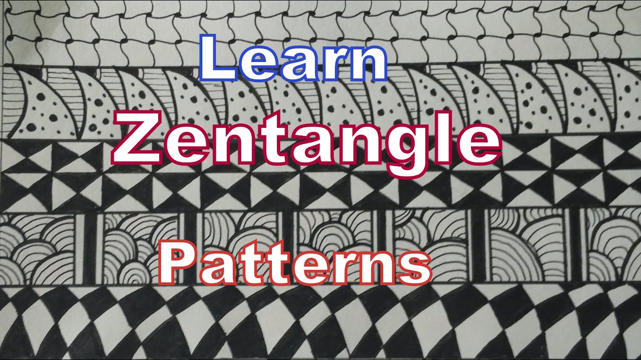 5 zentangle patterns for beginners how to draw easy for Drawing patterns for beginners
