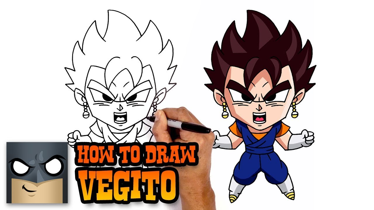 How to draw vegito dragon ball z art tutorial