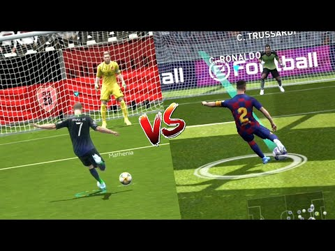 PES 2020 MOBILE Vs FIFA 20 MOBILE | Realistic Gameplay