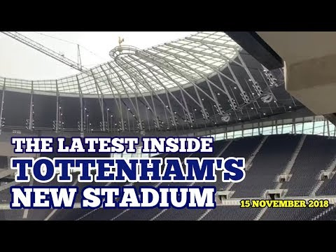 UPDATE AT TOTTENHAM'S NEW STADIUM: The Latest Inside The Tottenham Hotspur Stadium; Spurs' New Home