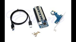 My PCI-E Express X1 To Dual PCI Riser Adapter Card Extend With USB 3 Review