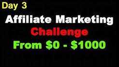 (Day 3) From $0 to $1000 Per Day Clickbank Affiliate Marketing Challenge Journey