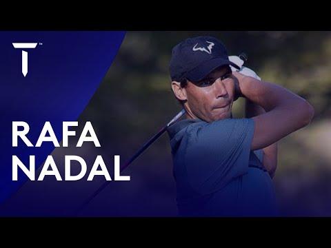 Rafa Nadal's golf swing