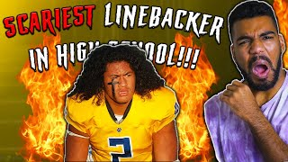 This High School Linebacker Is Putting THE FEAR OF GOD Into Kids!!!   Sharpe Sports