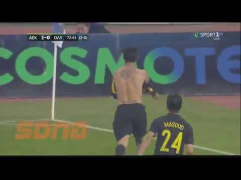 GOAL Araujo AEK-Olympiacos 2-1