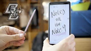 Using the Galaxy Note 9 for COLLEGE NOTES!