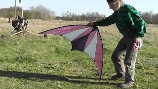 Latający Pustelnik- puszczanie latawca