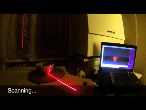 DIY 3D laser scanner