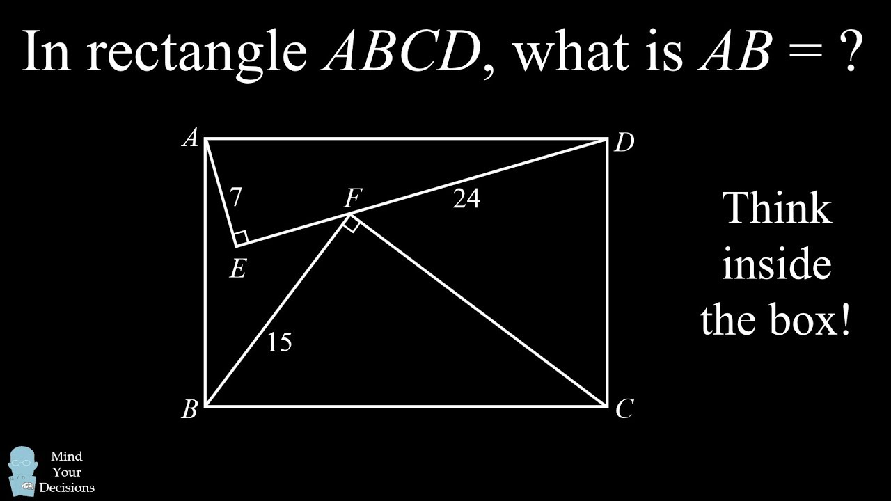 the rectangle side length puzzle think inside the box  [ 1280 x 720 Pixel ]