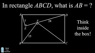 Can You Solve The Rectangle Length Puzzle? Think INSIDE The Box!