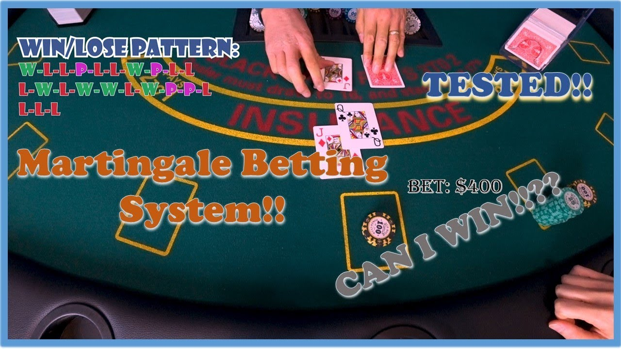 Blackjack - Martingale Betting Strategy. Is it profitable!? I won $400 in  one shoe. - YouTube
