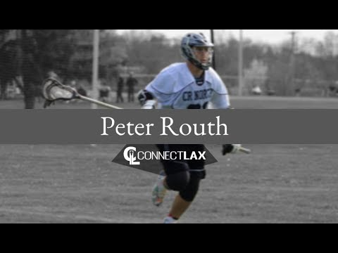 Peter Routh Lacrosse Highlights   PA 2020   Def, LSM