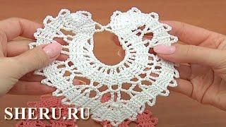 How to Crochet Brugge Heart Урок 8 часть 2 из 2  Сердце в технике брюггского кружева