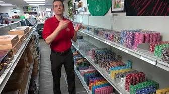 Spinettis Gaming Supplies Store Segment From Pokerkraut YouTube Show