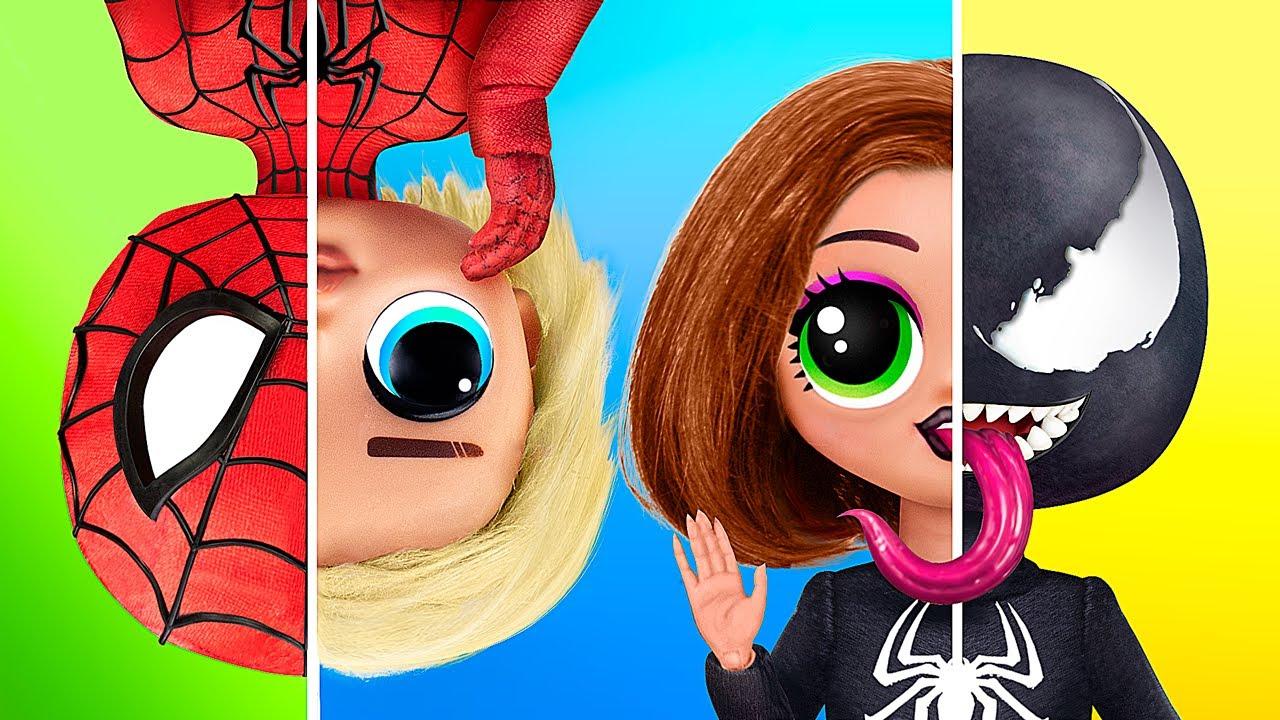 Non si è mai Troppo Vecchi per le Bambole! 11 Lavoretti in Stile Supereroi per le LOL Surprise