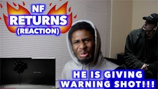 RETURNS - NF   THIS IS DEFINITELY A BANGER!!!   REACTION