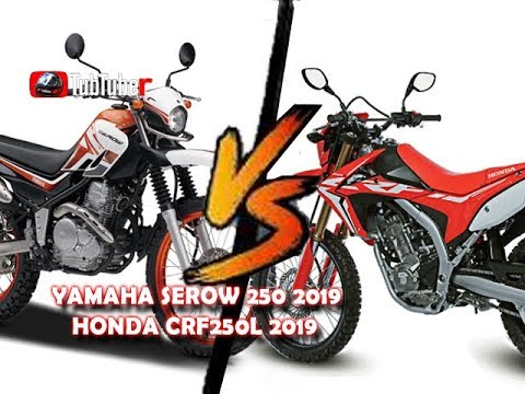 YAMAHA SEROW 250 2019 Compared Specifications HONDA CRF250L 2019 HD
