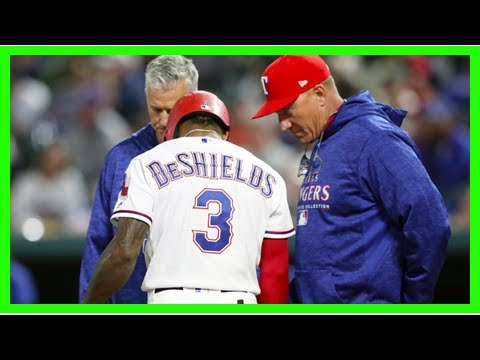 Texas Rangers outfielder Delino DeShields fractures bone in left hand, expected to miss four to six