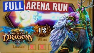 12 Win Druid FULL RUN - Descent of Dragons Hearthstone Arena
