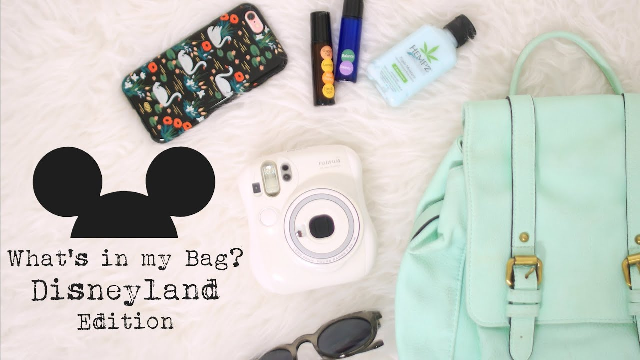 What s in my bag disneyland edition youtube