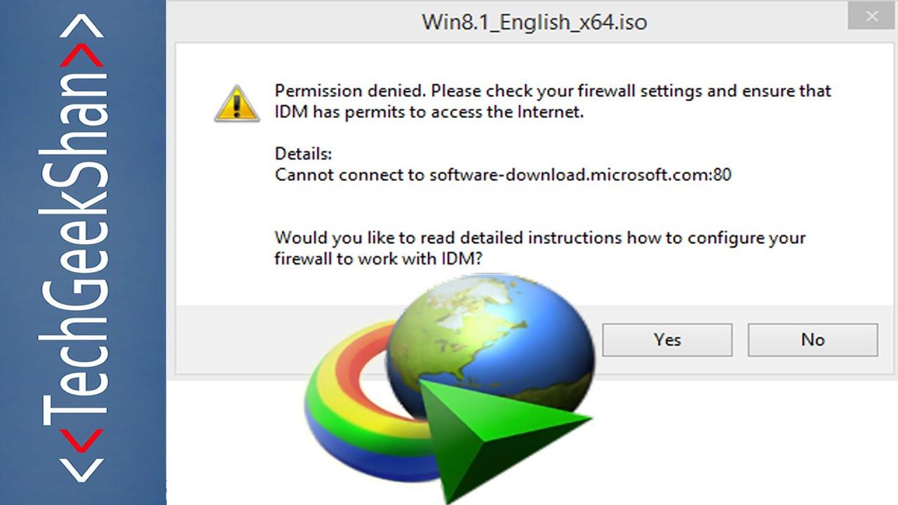 Fix IDM error