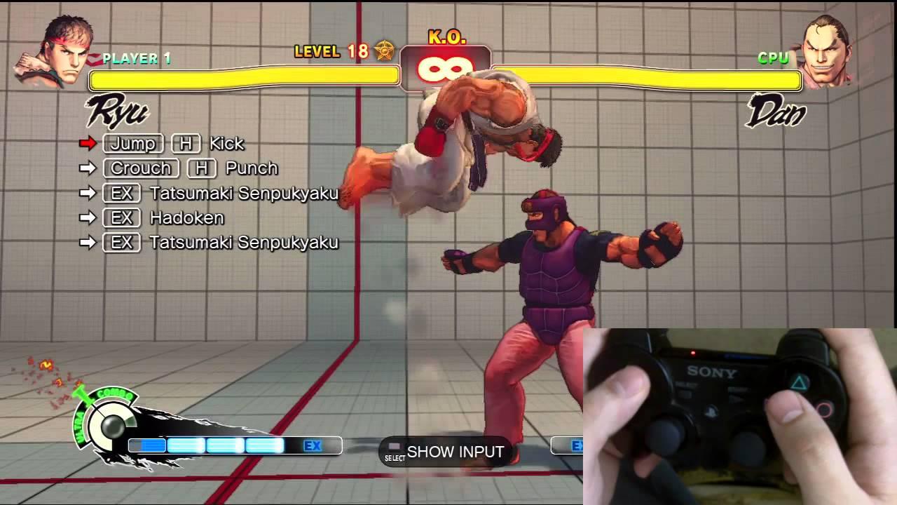 Super Street Fighter 4 Ryu Trials 1 24 Ps3 Controller D Pad Tutorial