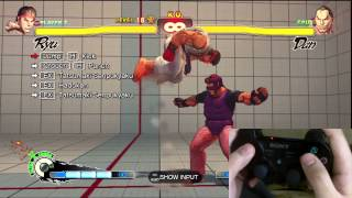 Super Street Fighter 4 Ryu Trials 1-24 PS3 Controller D-Pad Tutorial