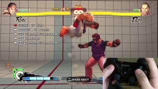 Super Street Fighter 4 Ryu Trials 1-24 PS3 Controller D-Pad Tutorial
