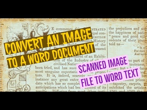 How To Convert A Scanned Image, Jpg, Png To Word And Texts, Full Editable.