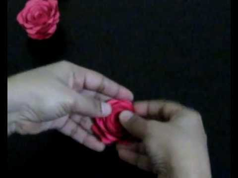 Simple rose made with chart paper youtube thecheapjerseys Gallery