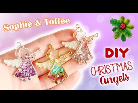 Christmas Angel Resin Bezels│Sophie & Toffee Subscription Box October 2017