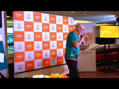 Mr.  Peter Grimes, President & CEO FWD life Insurance Philis.  for #specialolympicsphilippines