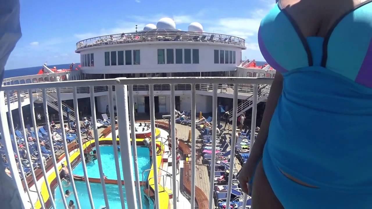 Carnival Elation Water Slide Youtube