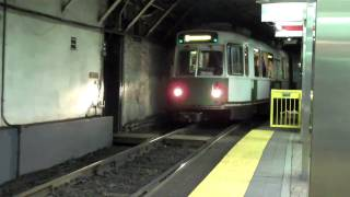 MBTA Green Line At Park St And Government Center