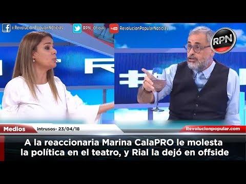 A la reaccionaria Marina CalaPRO le molesta la política en el teatro, y Rial la dejó en offside