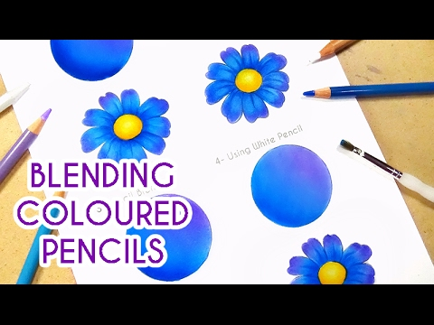 4 WAYS TO BLEND COLOURED PENCILS | Blending Coloured Pencils for Smooth Shading