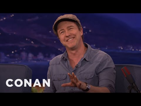 "Helen Mirren Was On Edward Norton's ""Bucket List""   CONAN on TBS"
