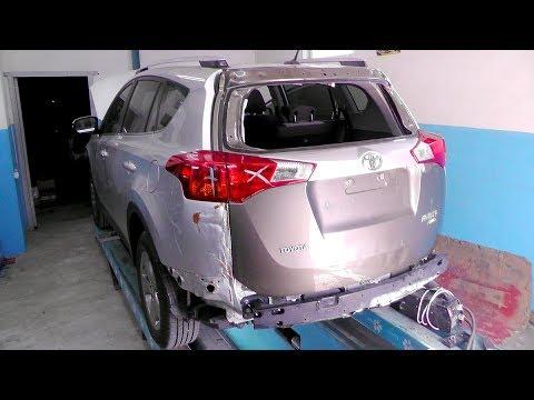 Toyota RAV 4. Работа с задницей. Замена крышки. ДЕНЬ ПЕРВЫЙ.
